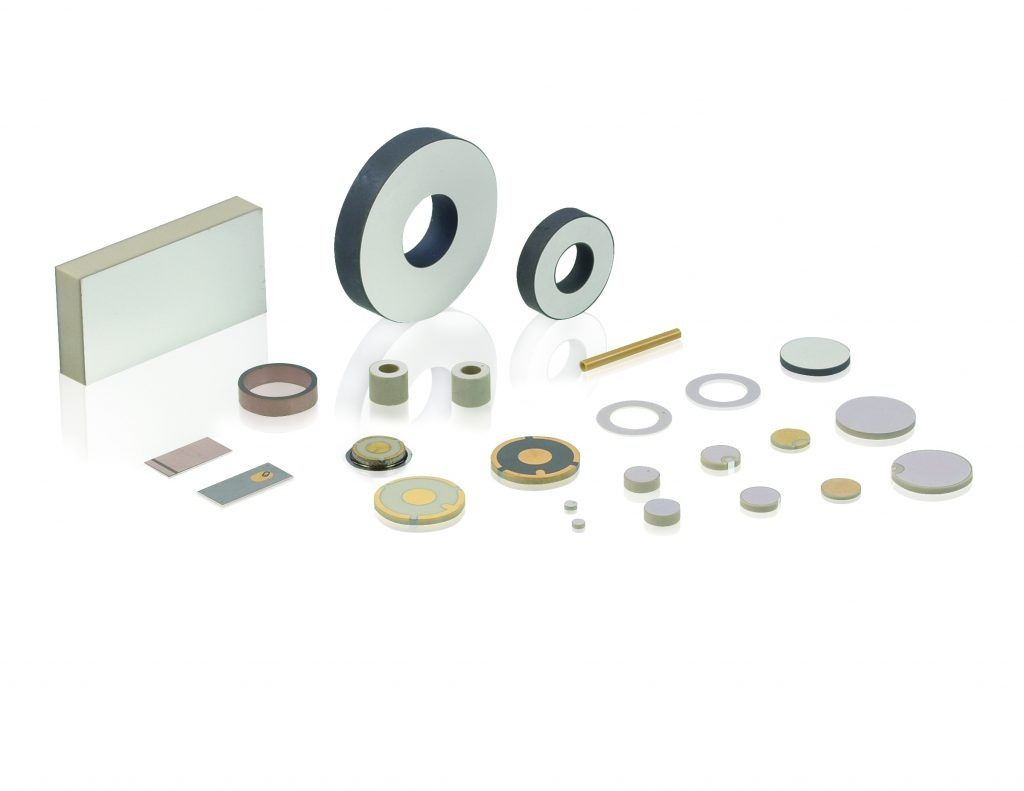 Image 3:Piezo elements can be realized in different sizes, materials and for different temperature ranges This makes optimum adaption to the respective application possible (Image: PI Ceramic)